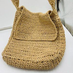 Vintage Unlisted Tan Crochet Purse Hand bag